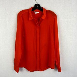 ALFRED SUNG Elegant Red Blouse